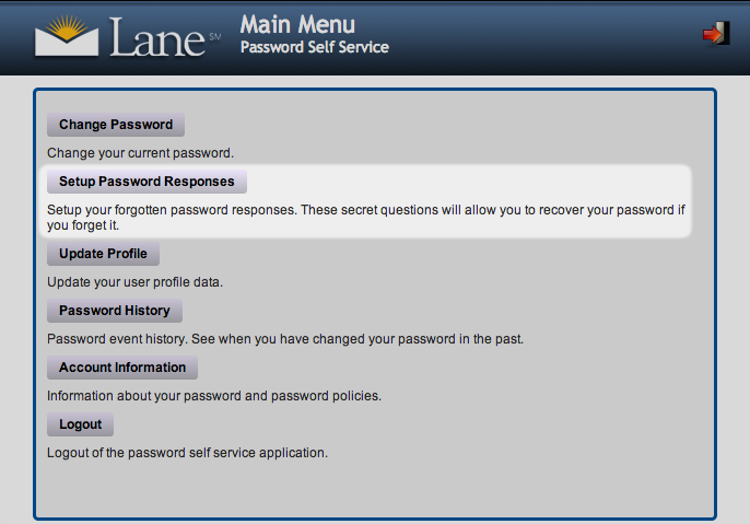 Screenshot - PWM Security Questions